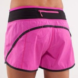 lululemon Turbo Run Shorts Paris Pink Black 4